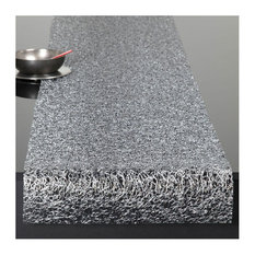 Chilewich   Chilewich Metallic Lace Table Runner, Silver, Runner   Table  Runners
