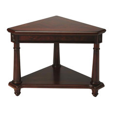 Butler Specialty Company   Butler Antwerp Plantation Cherry Corner Table,  Dark Brown   Side Tables