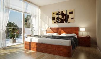 Corzano Walnut Storage Bed