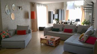 Nancy - Aménagement et décoration d'un salon séjour de 55m2