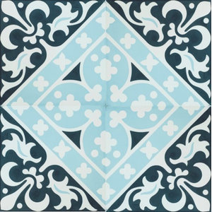 Espanola Pattern Cement Mexican Tile, Set of 13, 8x8