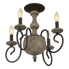 Luxury French Country Corinthian Wood Ceiling Light, UQL2151, Porto Collection