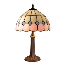 Pink Series Large Table Lamp With Ridged Stand
