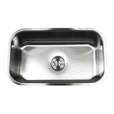 """30"""" Stainless Steel Undermount Single Bowl Kitchen Sink, 18 Gauge"""