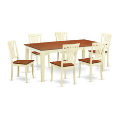 7-Piece Table Set For 6 Table And 6 Chairs Buttermilk/Cherry
