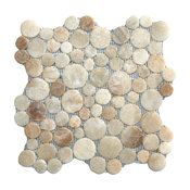 "12""x12"" Glazed Mixed Quartz Moon Mosaic Tile"