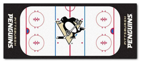 Fanmats Nhl Pittsburgh Penguins Hockey Rink Accent Runner Rug Hall And Stair Runners