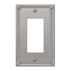 amertac imperial bead cast 1rocker wall plate brushed nickel switch plates