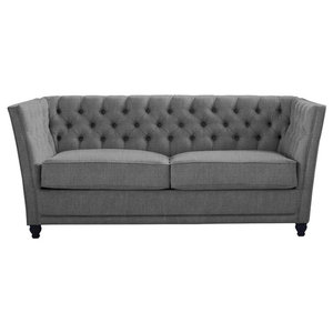 Disraeli Chesterfield Sofa Bed, Storm, 2 Seater, 113x183 cm