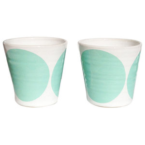 Tina Coffee Cups, Set of 2, Turquoise