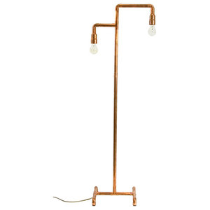 Copper Pipe Retro Floor Lamp