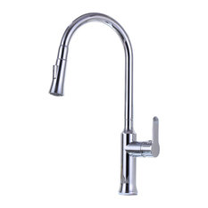Vanity Art Pull Out Kitchen Faucet, Chrome