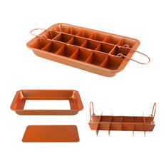 Induction Based Non-Stick Copper Infused Ceramic Coated Baking Brownie Pan