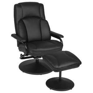 VidaXL Black And Red TV Armchair Recliner Artificial Leather ...