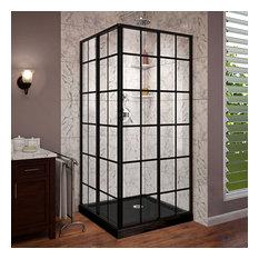 "DreamLine French Corner Shower Enclosure and Base Kit 36""x36""x74.75"""
