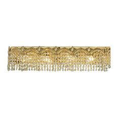 Regency II, 24k Gold Plate, Crystal