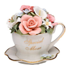 Special Mom Cup And Saucer Musical Box, Tune: Memory