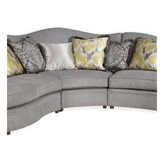 A.R.T. Home Furnishings   Amanda Corner Wedge, Sterling   Sectional Sofas