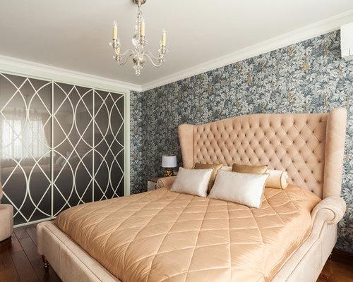 Дизайн спальни с коричневым полом