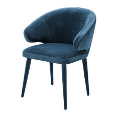 "Blue Dining Chair | Eichholtz Cardinale, blue, 24""W x 22""D x 31""H"