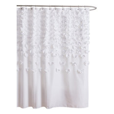Style Lounge Shower Curtain. Lush Decor  Lucia Shower Curtain White Curtains Houzz