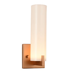 50 most popular wall sconces with a plastic shade for 2018 houzz crystal lighting palace led opal glass 1 light wall sconce matte gold aloadofball Choice Image
