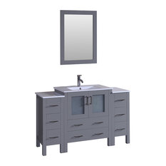"54"" Bosconi Gray Single Vanity"