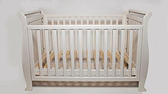 """Белая кровать для новорожденных  """"SIMPLE"""""""