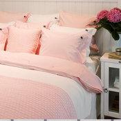 Lexington American Pin Point Oxford Duvet Cover - Pink/White