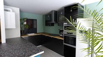 Rénovation cuisine ouverte - salon