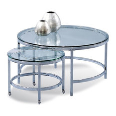Patinoire Round Cocktail Table on Casters