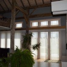 Custom Barn Home Window Treatments