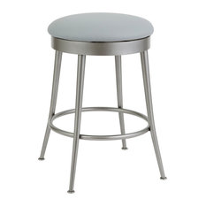 Witney Counter Height Backless Barstool Faux Leather/Silver Palladium 26-inch