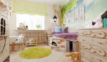 Детская Комната в лесном стиле 12 метров