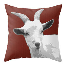 Goat - Red Pillow Cover, 20x20