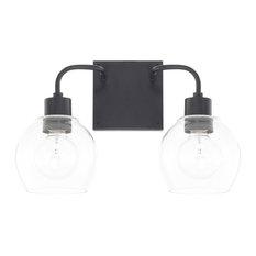 """Capital Lighting 120021-426 Tanner 2-Light 15"""" Bathroom Vanity Light, Matte Blac"""