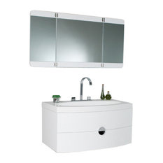 Energia White Modern Bathroom Vanity plastic / acrylic bathroom vanities | houzz