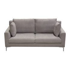 Seattle Loose Back Loveseat - Gray