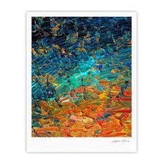 "Ebi Emporium ""Eternal Tide II"" Teal Orange Fine Art Gallery Print, 24""x36"""