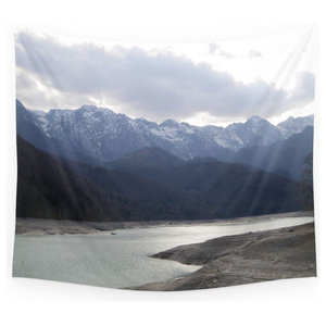 Medium 39 in Designart TAP15320-39-32 Winter in Bavarian Alps Panorama Landscape Blanket D/écor Art for Home and Office Wall Tapestry x 32 in