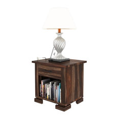 Athena Solid Wood 1 Drawer Nightstand