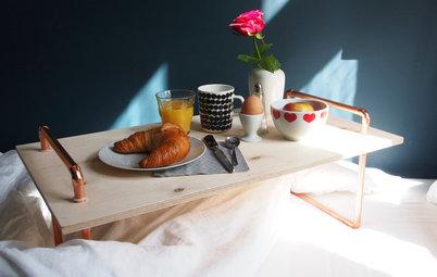 Ein schickes Frühstückstablett fürs Bett selber bauen