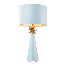 Neo 1 Light Table Lamp in Blue And Gold