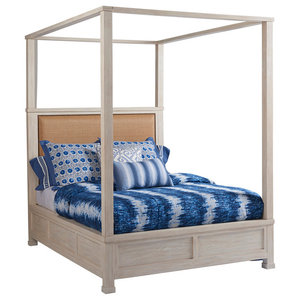 Shorecliff Canopy Bed 5/0 Queen  sc 1 st  Houzz & Naples Canopy Bed White Queen - Transitional - Canopy Beds - by ...