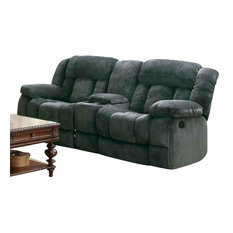 Double Reclining Loveseat Console Houzz
