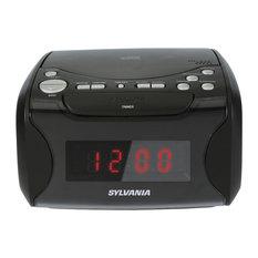 USB-Charging CD Dual Alarm Clock Radio