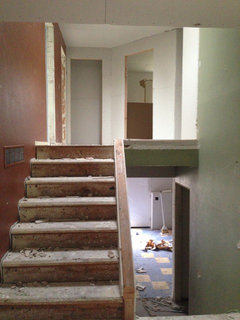 A Photo Of The Stairway... Amidst The Chaos Of The Remodel