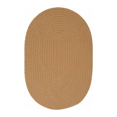 Colonial Mills, Inc - 10 Ft. Round Rug ,Topaz Textured Braided   by Super Area Rugs - Outdoor Rugs