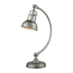 Ramsay Collection 1 Light Table Lamp in Burnished Silver Finish