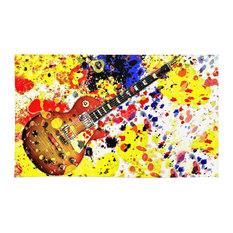 Society6   Society6 Retro Les Paul Guitar Rug, ...